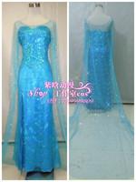 Custom made Movie Frozen Princess Elsa Dress Movie Cosplay Costume for adult B version