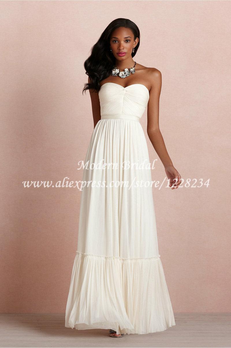 Vestidos Novias Baratos Novia Blanco Cinta Vestido