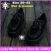 Hot!! 5cm Heel Men And Women Four Seasons Shoes AOD Goth Punk Harajuku Creepers Platform Shoes British Creepers EUR 34~43