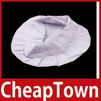 CheapTown Adult Elastic White Chef Hat Baker BBQ Kitchen Cooking Hat Costume Cap One Size Save up to 50%