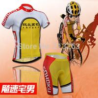 Yowamushi Pedal sohoku cycling jersey short sleeve cycling clothing men Cycling Bib Shorts