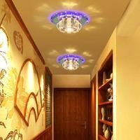 3W LED crystal ceiling light lamp modern corridor light balcony decorations lights & lighting abajur AC200-240V luminaria teto