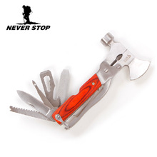 Free Shipping Outdoor Multifunctional Combination Tools,Mini  Axe Cavatappi Knife Bottle Opener  Outdoor Equipment Tools