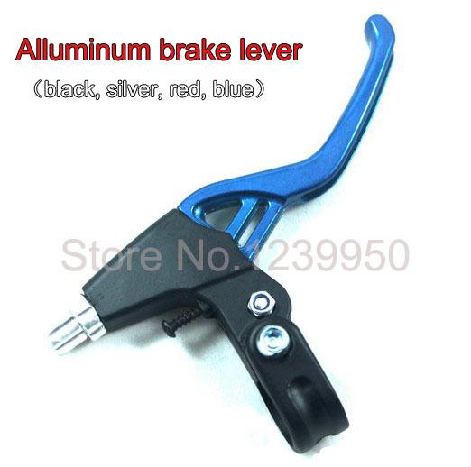 Free shipping! LIGHTEST Melt forged Aluminum handle bar brake lever for Mountain bicycle folding bike, hinged clamp design(China (Mainland))