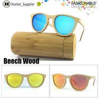 Wood Sunglasses Women Vintage Wooden Cat Eye Glasses Polarized Revo Lens Oculos de sol Feminino Bamboo Sun Glasses ESWD1002A