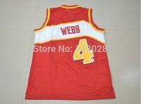 Atlanta #4 Spud Webb Jersey,Rev 30 Throwback Basketball Jersey Cheap Authentic Jersey Stitched Logo Embroidery Sport Jersey