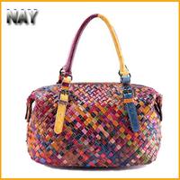 Brand Fashion Designer Women Handbags Woven Handmade Organizer Tote Ladies Purse And Handbags