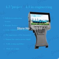 "4.3""Audio Video Security CCTV Camera Tester 12V Output RJ45 CableTest Monitor"