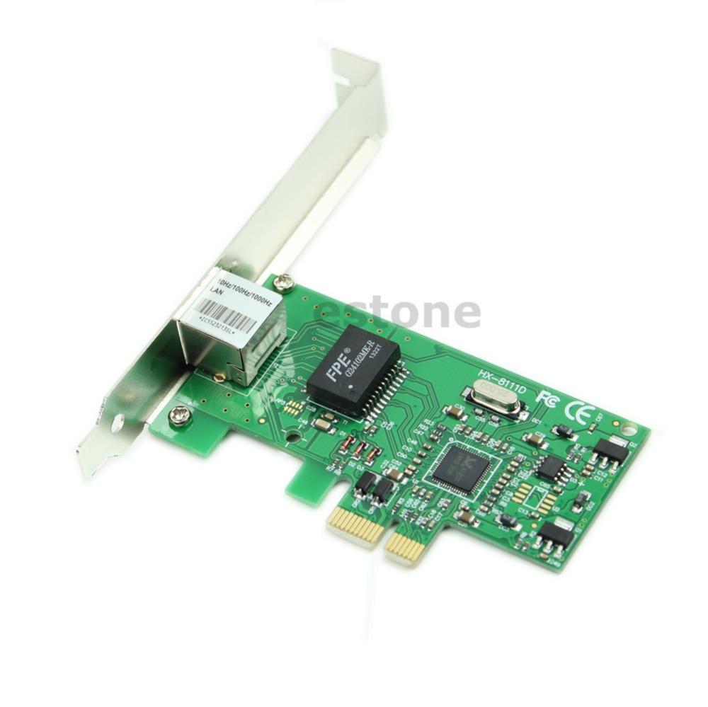 Gigabit Ethernet LAN PCI Express PCI-e Network Controller Card New(China (Mainland))