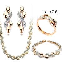 2014 new design  stone  jewelry set for women