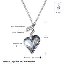 Neoglory Austria Crystal Rhinestone Heart Love Necklaces Pendants For Women New 2015 Romantic Jewelry Accessories JS4