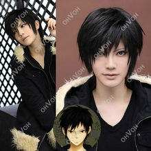 Men's Fashion Short Black Straight Hair Full Wigs Cosplay Costume Party Festival Gift