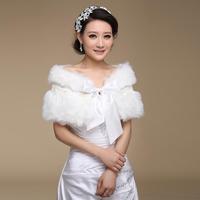 The bride wedding dress cheongsam wedding fur shawl wrap long fur shawl bandeaus wedding wrap mpj046