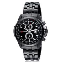New 2014 CURREN SPORT QUARTZ Military WATCHES STAINLESS STEEL AUTO DATE relogio  military watches clock casual quartz men watch