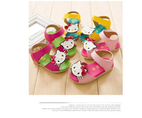 Insole 13-15cm New 2014 Summer Girls Sandals hello kitty PU leather Kids Children Shoes Sandals Sneakers Freeshipping