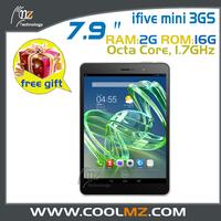 2014 NEW  ifive  mini3GS Retina 7.9 inch 2048*1536 Screen Android 4.4 MTK MT6592 Octa Core 3g gps Tablet PC 2GB RAM