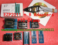 Free Shipping! 2013 new EZP2011 + NEW IC clip +8 adapters, update from EZP2010 25 24 93 bios High Speed USB Programmer