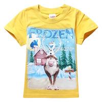 Frozen Sven Cartoon children baby kids boys t shirt baby boys tops tees t shirt 2-9 years old free shipping