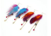 Promotion Hot Selling Elegant Girls Classic Trendy Korean Fashion Personality Feather Tassel Earrings!#fthxzm_09043312
