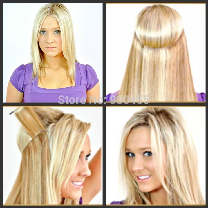 Free-shipping-brazilian-virgin-remy-hair-halo-hair-flip-in-hair ...