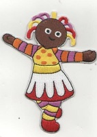 Upsy Daisy iron On Patches In The Night Garden whole embroidered Appliques kids cloth patch 100pcs/lot, wholesale Free Shipping