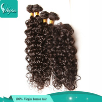 wet and wavy virgin brazilian hair 6a unprocessed brazillian hair with closure water wave 6pcs and 1 gift closure total 205g/lot
