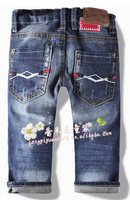 Free shipping new  Z High-grade Worn Boy Jeans with holes spring and autumn for height 90cm to 140cm za8827