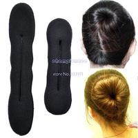 2014 2pcs L +S Styling Magic Sponge Hair Retail Pure Knitted bun Nylon Hair Donut Hair Accessories Bun free shipping B16 2780
