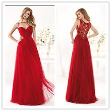 2014 New Arrival Beach Evening Dress High Neck Floor Length Aplliques Sleeveless Prom Gown