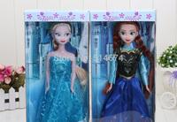 2pcs Figure Play Set princess Elsa Anna Classic Toys Dolls retail in box