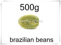 500g Brazil weight loss pure green coffee for slimming arabica original coffee bean coffe beans fat burning tea cofee food