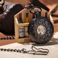2014 New Men's Skeleton Pocket Watch Antique Mechanical Hand Wind Pocket Watch Fashion Watches