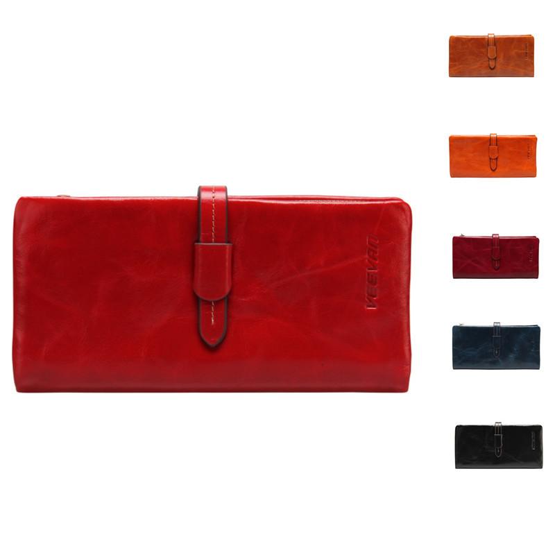 VEEVAN wallet genuine leather women wallets high quality famous brand wallet purse fashion clutch women bag handbag card holder(China (Mainland))