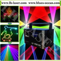 Mini Analog Modulation ILDA 1000mW RGB animation laser projector,RGB laser light