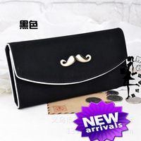 2014 new hot sell 1pcs/lot Wallet women's beard wallet solid leather wallet high quality fashion purse free shipping