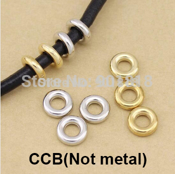 Free shipping 100pcs/lot CCB 4mm 6mm spacer jump rings for bracelets necklaces beads jewelry DIY accessories findings F1013(China (Mainland))