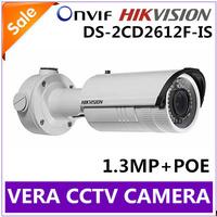 Hikvision DS-2CD2612F-IS1.3MP CCTV Camera Vari-focal IR Bullet IP Camera IP66 Rating True Day/Night HD W/audio POE Wecam