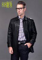 Autumn 2014 new fashion style men's clothing casual genuine leather jackets men jacket free shipping