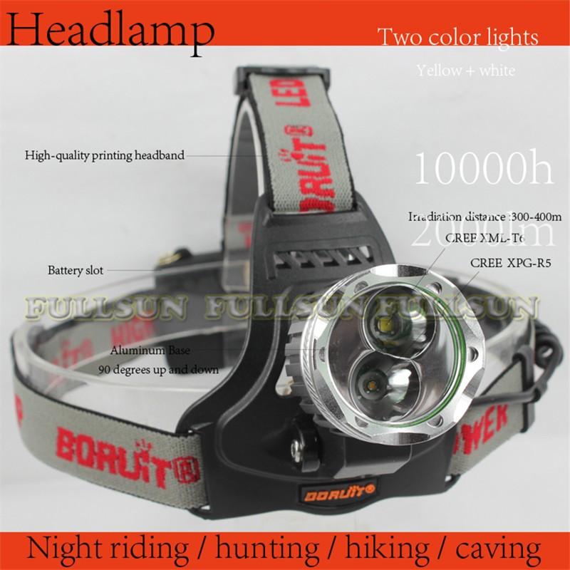 Налобный фонарь BORUIT CREE xml/t6 + XPG R5 FS-RJ-16A налобный фонарь boruit cree xml t6 5000lm 4 18650 k3000