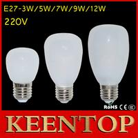 Keentop Brand E27 USA Design Glass Cover 220V 3W 5W 7W Led Lamps SMD2835 Bubble Ball Bulb Light Corn Benbon Lighting 1Pcs/Lot