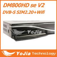 DM800HD se V2 Satellite Receiver DM800se V2 with SIM2.20 300Mbps Wifi 1GB Flash 521MB RAM HbbTV and Web browser Free Shipping