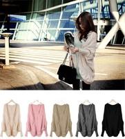 New Arrival !!!!  New Lady Women Loose Warm Batwing Sweater Coat Wool Knit Cardigan Outwear Free Shipping 650731