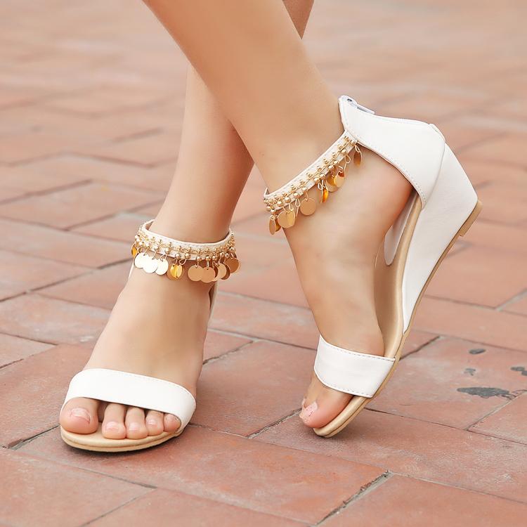 Мода 2015 женщин сандалии melissas клинья