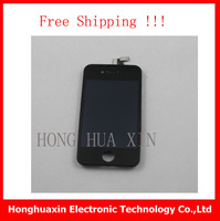 20pcs/lot White&Black Original LCD Display Screen+Touch Digitizer Glass for iphone 4 4G  Assembly+open tool,free shipping
