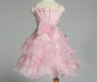 Wholesale Bouffancy Bead Girls Dress 2014 Latets Exclusive Kid Dancing Party Dresses 2-7Y