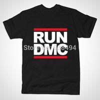 New Arrival Euro Size RUN DMC T Shirt Tshirt Men Run-D.M.C Hip HopT-shirt Top Tees With Short Sleeve