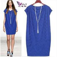 New summer dress 2014 fashion desigual maxi black vestidos causal plus size s-4XL mini vintage novelty dress free shipping W052