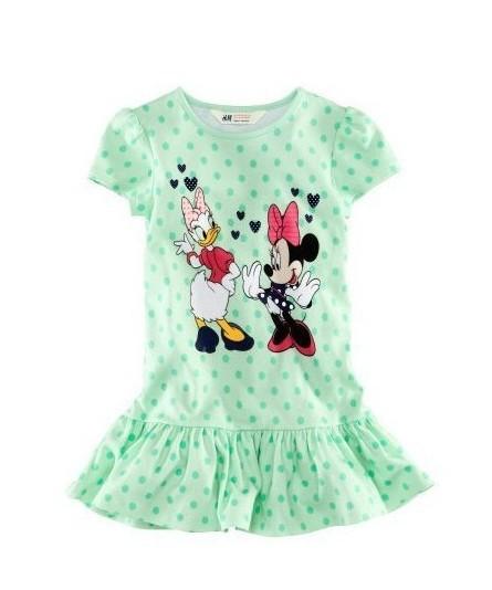 AliExpress.com Product - 1pcs Girls Summer Dresses For 1-5yrs Baby Girls Cartoon Dots Mini Dress Kids Cartoon Minnie Green Fashion Clothes Free Shipping
