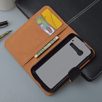 Luxury  crazy horse Leather Case Cover For Alcatel One Touch Pop C5 5036 OT5036 5036D with wallet and card holder 4 colors