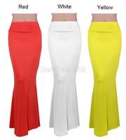 High Quality Long Pencil skirts women summer fashion maxi skirt long elastic high waist casual skirt floor-length B26 SV001497